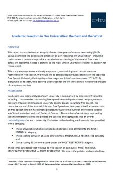 Academic Freedom in Our Universities