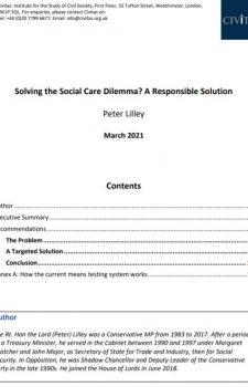 Solving the Social Care Dilemma?